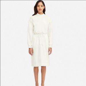 Uniqlo midi dress in white